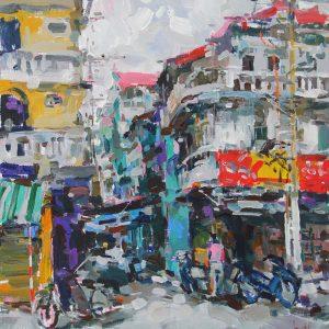 100x110cm-Hanoi's-alley---17.5.13