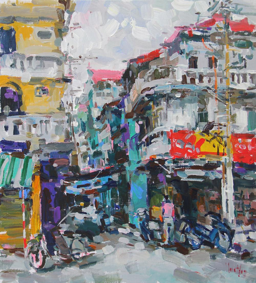 100x110cm-Hanoi's-alley—17.5.13
