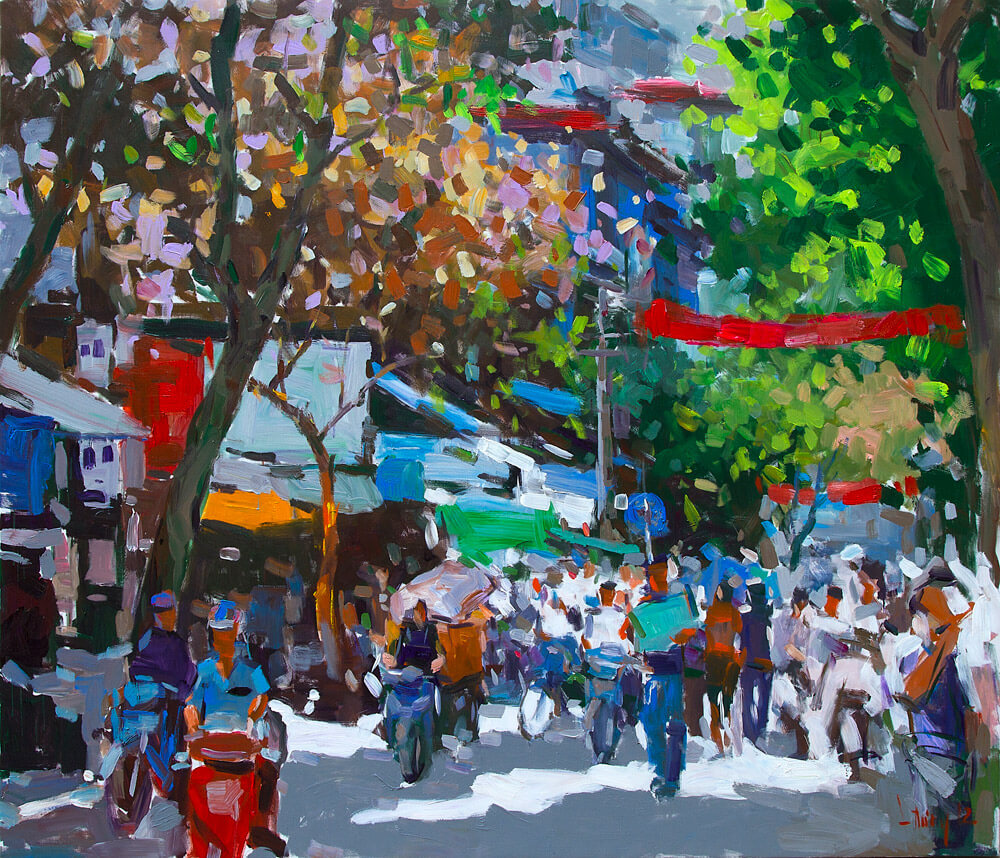 A happy day in Hanoi, Vietnam Artists