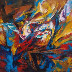 Abstract 01 - Vietnamese Acrylic Paintings by Artist Mai Huy Dung