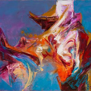 Abstract 04 - Vietnamese Acrylic Paintings by Artist Mai Huy Dung