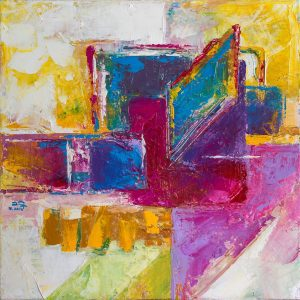 Abstract 05 - Vietnamese Acrylic Paintings by Artist Mai Huy Dung