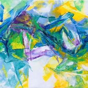 Abstract 08 - Vietnamese Acrylic Paintings by Artist Mai Huy Dung