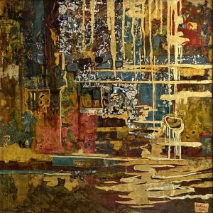 Abstract - Vietnamese Lacquer Paintings by Artist Do Khai