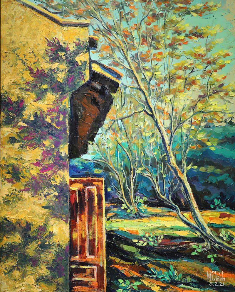 Antique Garden - artist minh chinh