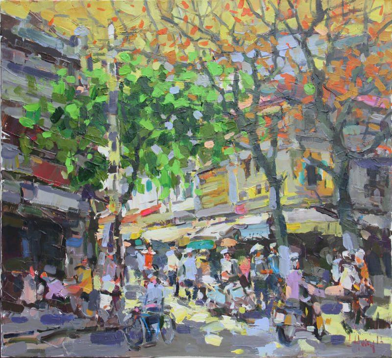 Autumn Evening Twilight 5.1. 1, Vietnam Paintings