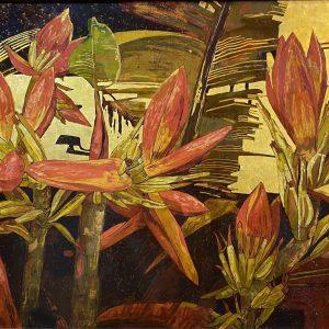Banana Flower 02 - Vietnamese Lacquer Paintings by Artist Do Khai