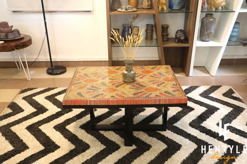 Blooming Fireworks Colored-Pencil Coffee Table 3