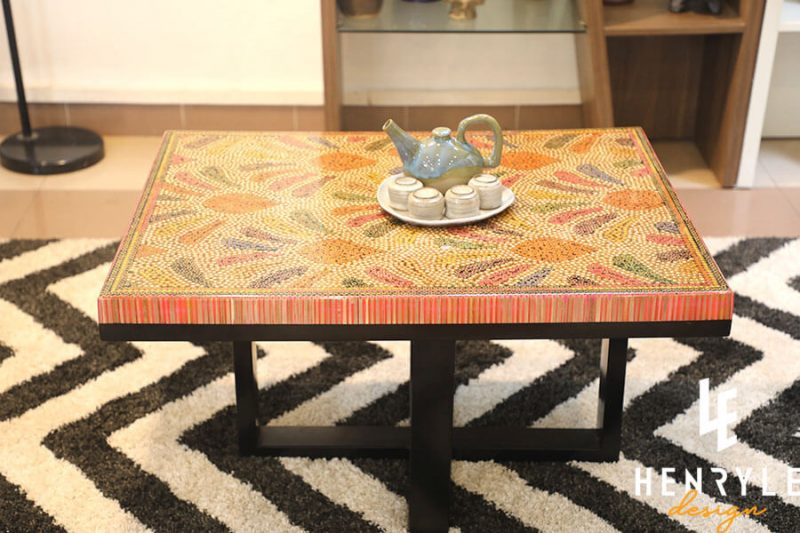 Blooming Fireworks Colored-Pencil Coffee Table 5