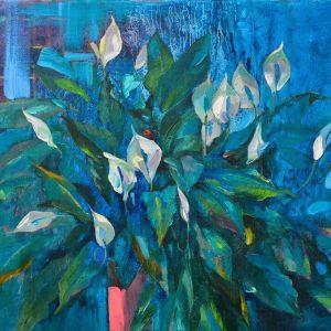 Blue Flowers, Vietnam Art Gallery