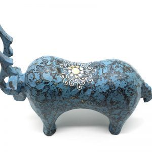 Blue Reindeer - Vietnamese Lacquer Artworks by Artist Nguyen Tan Phat