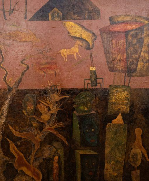 Day Dream, Vietnam Art PaintingDay Dream, Vietnam Art Painting