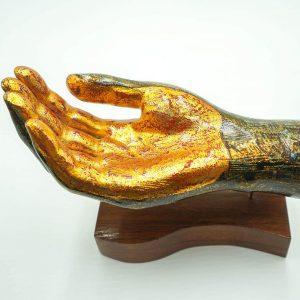 Decorative Palm Up Sculpture 1