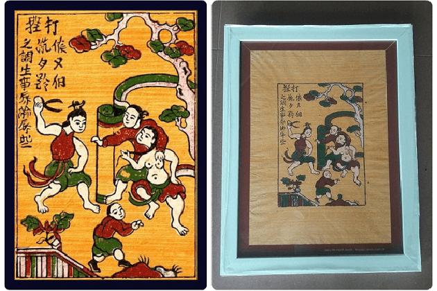 Dong Ho Painting - Jealously Scene