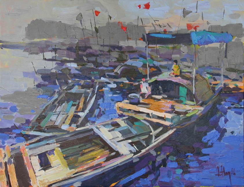 Erning in living, 60 x 80cm, Vietnam Art Paintings