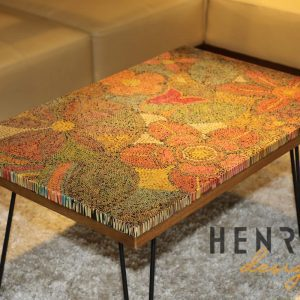 Exotic Flowers Colored-Pencil Coffee Table 1