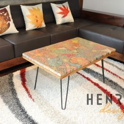 Exotic Flowers Colored-Pencil Coffee Table 9