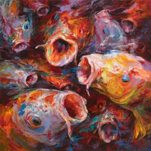 Fish 10 - Vietnamese Acrylic Paintings by Artist Mai Huy Dung