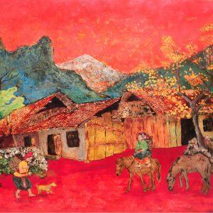Flaming red twilight, Best Gallery in Vietnam