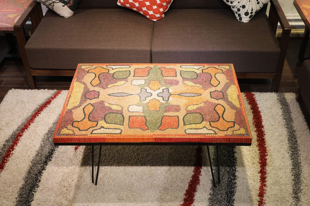 Flawless Symmetry Colored-Pencil Coffee Table