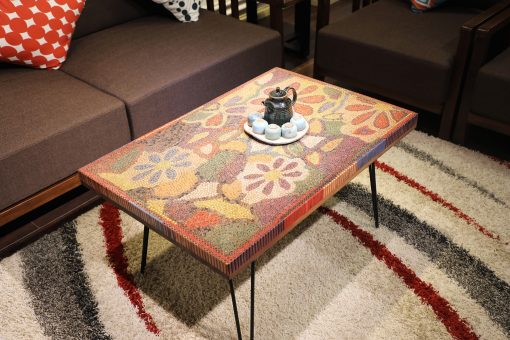 Floral Life Colored-Pencil Coffee Table