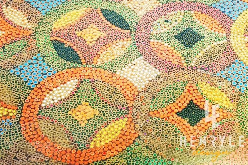 Flow of Property Colored-Pencil Coffee Table 11