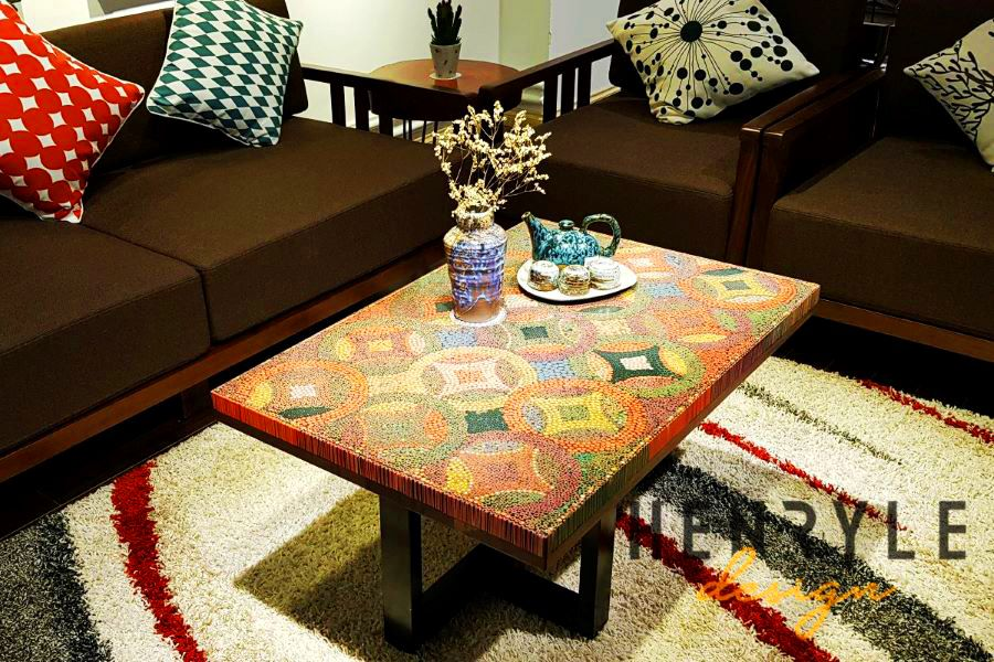 Flow of Property Colored-Pencil Coffee Table 12