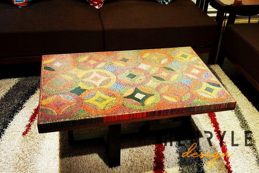 Flow of Property Colored-Pencil Coffee Table 13