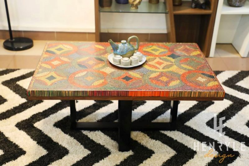 Flow of Property Colored-Pencil Coffee Table 7