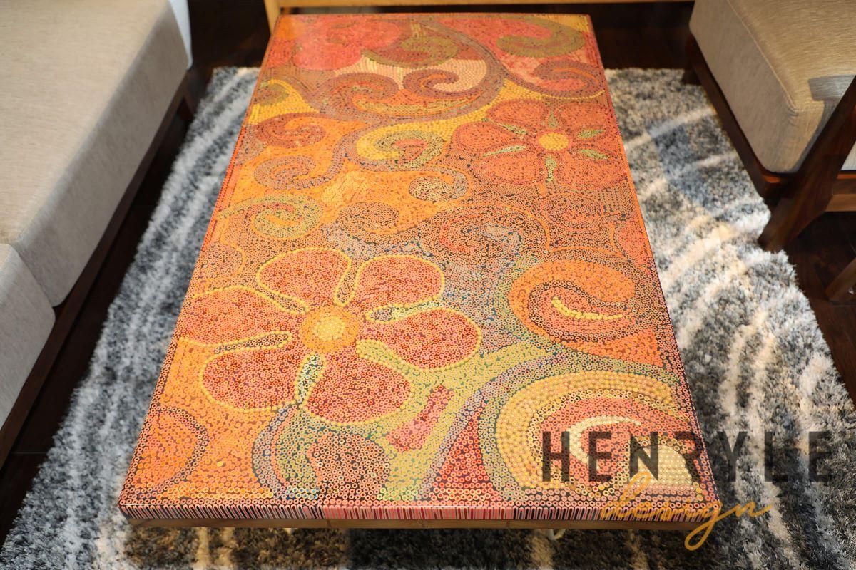Garden Of Eden Colored Pencil Coffee Table 1