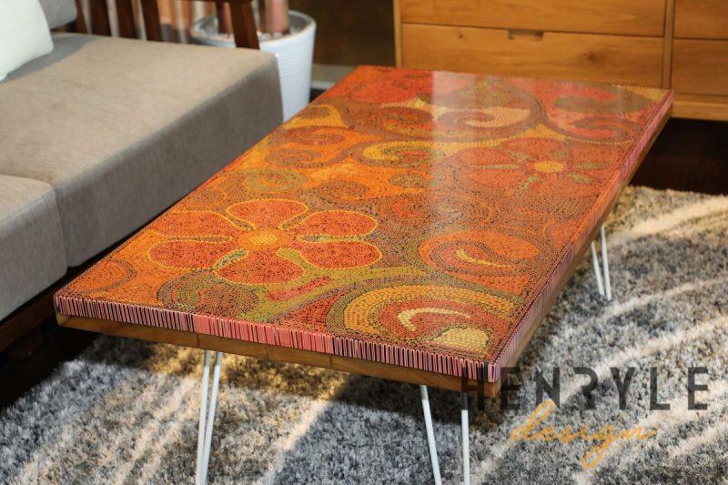 Garden Of Eden Colored Pencil Coffee Table 2