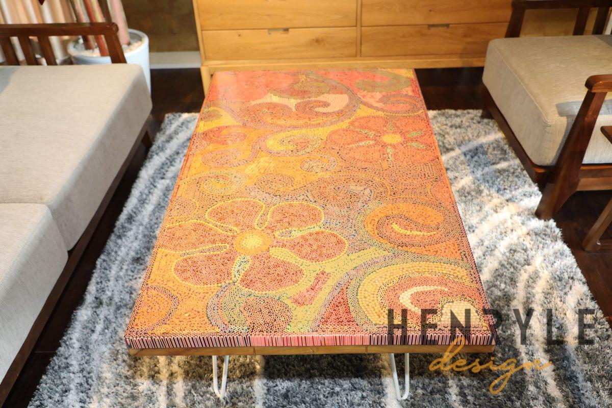 Garden Of Eden Colored Pencil Coffee Table 4