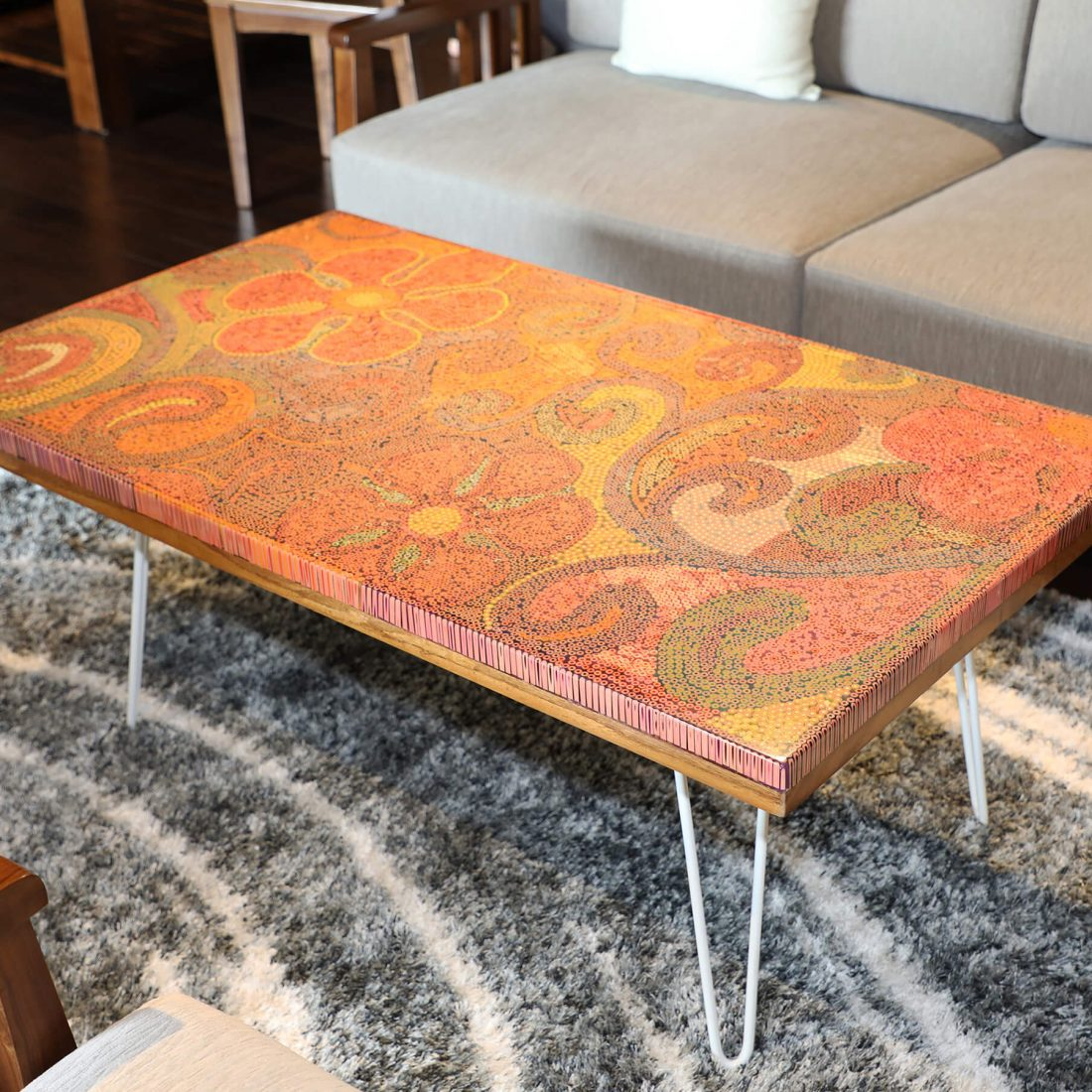 Garden of Eden Colored Pencil Coffee Table