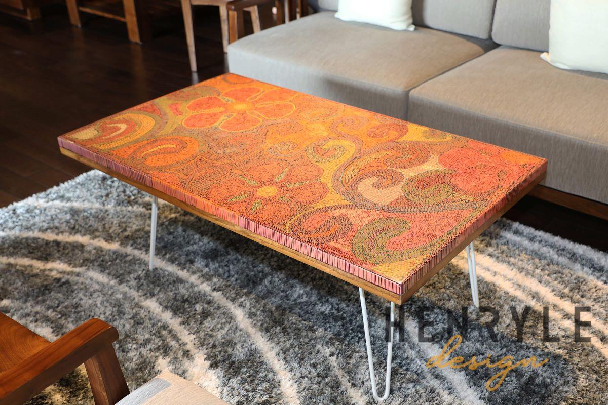 Garden of Eden Colored Pencil Coffee Table 3