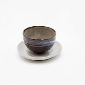 Glora Ceramic Tea Cup and Tray