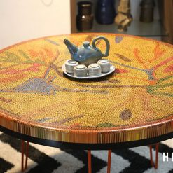 Golden Autumn Colored-Pencil Coffee Table I 1