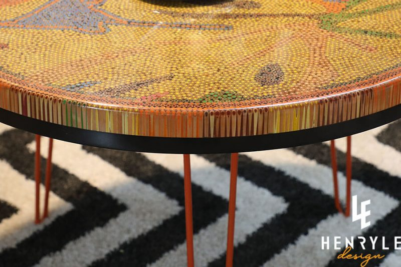 Golden Autumn Colored-Pencil Coffee Table I 3