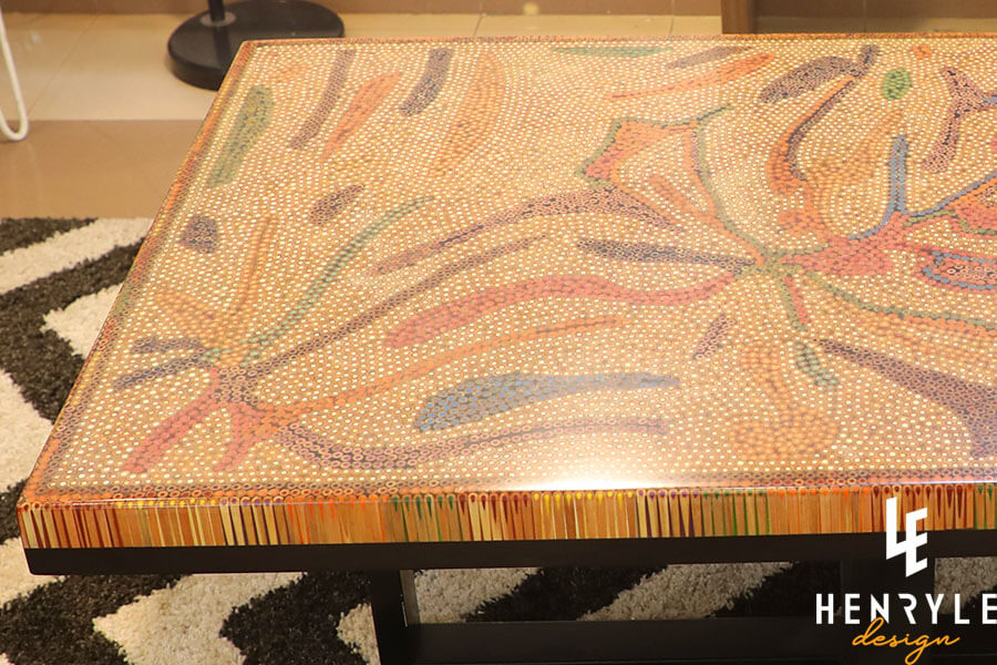 Golden Autumn Colored-Pencil Coffee Table II 3