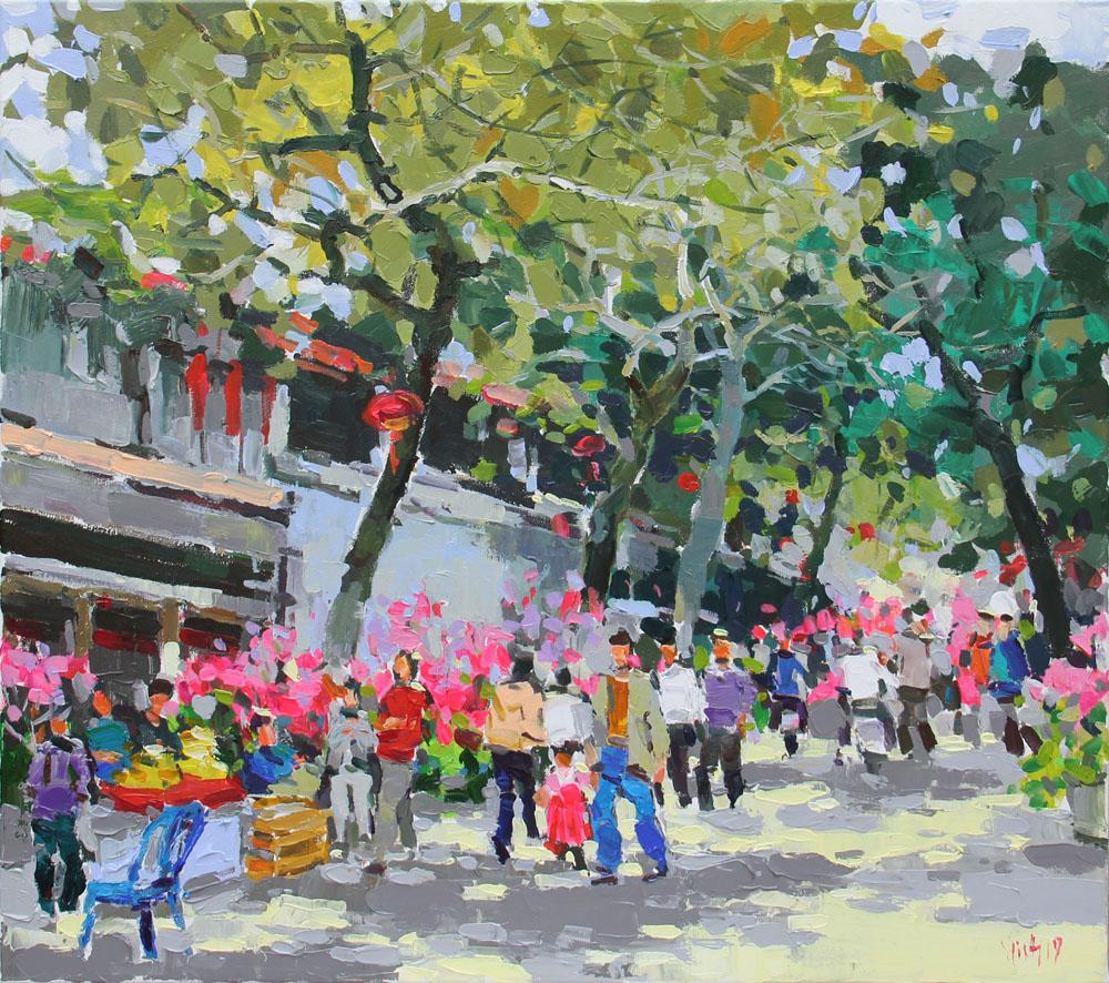 Hang Luoc street on Spring