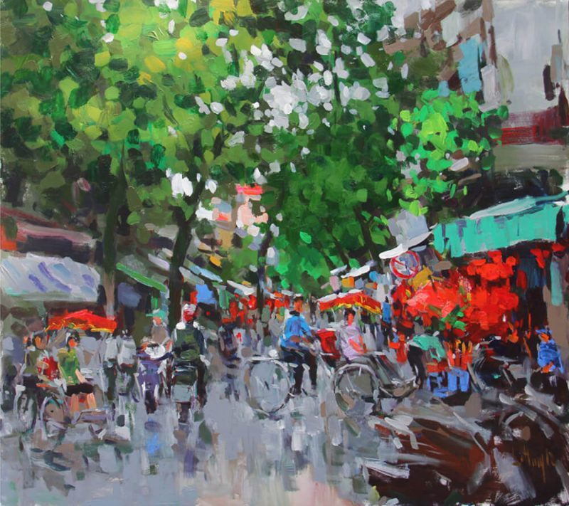 Hang Ma Street 1, Vietnam Paintings