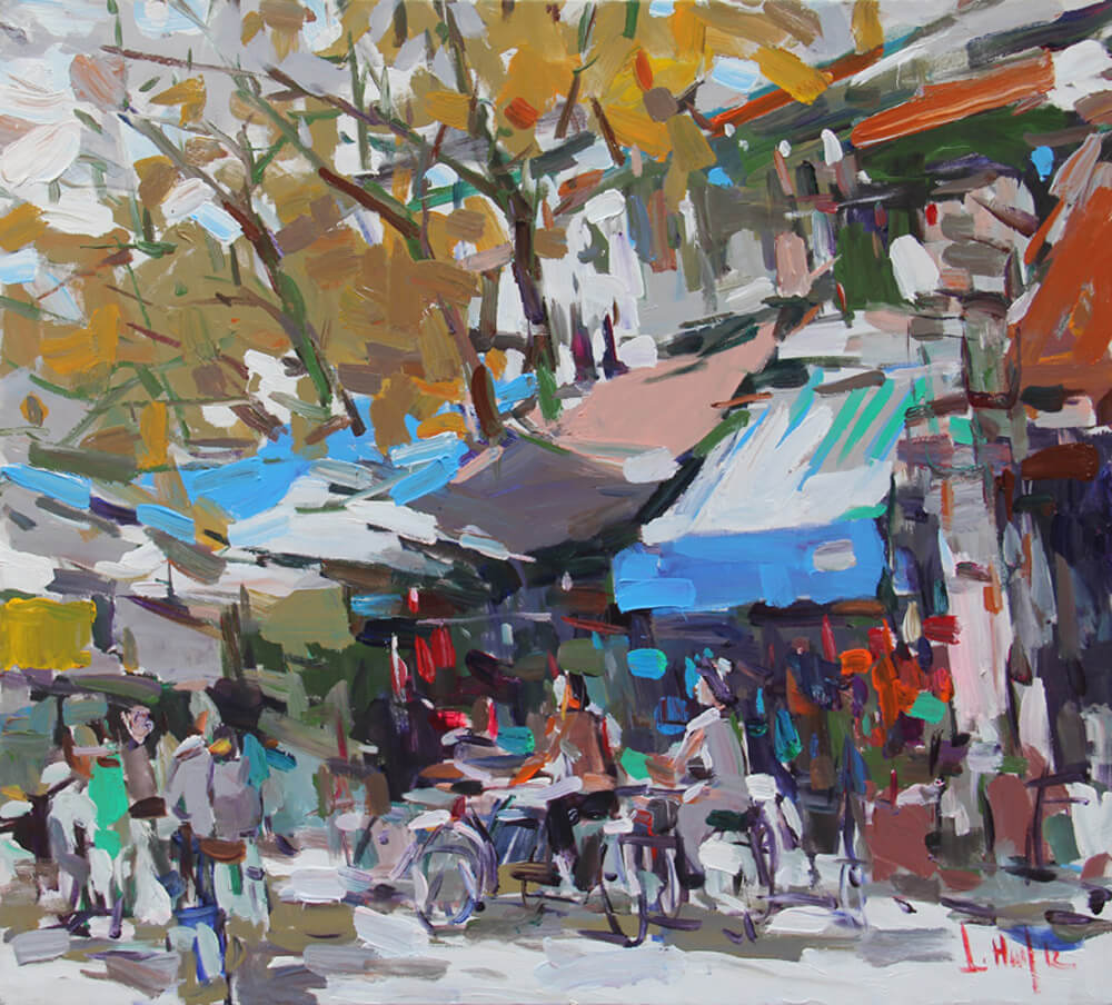 Hanoi Old Quater, Vietnam Paintings