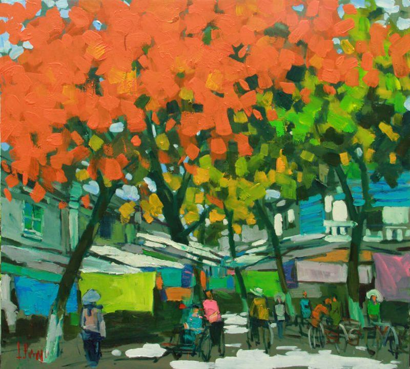 Hanoi Old Quater in the Street, Art Gallery in Vietnam
