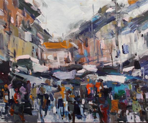 Hanoi Old quarter Street market