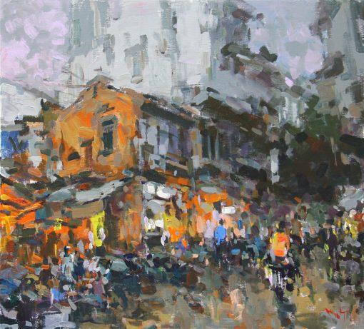 Hanoi Street Lights up