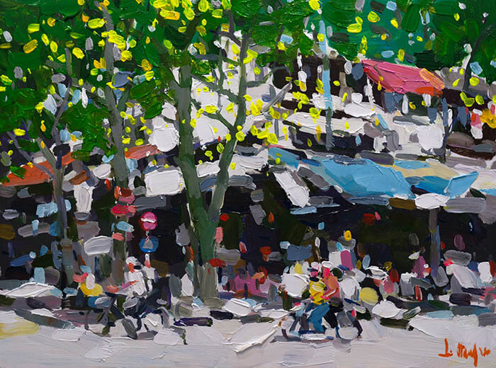 Hanoi Street Spring Turn, Vietnam Artists