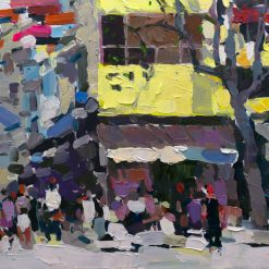 Hanoi Street corner in the Fall, Art Paintings in Vietnam