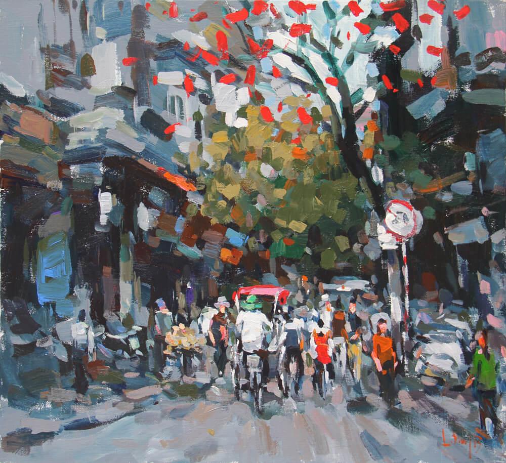 Hanoi in the Cold Season 1, Vietnam Paintings