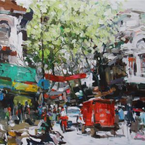 Hanoi in the spring morning, Art Gallery in Vietnam