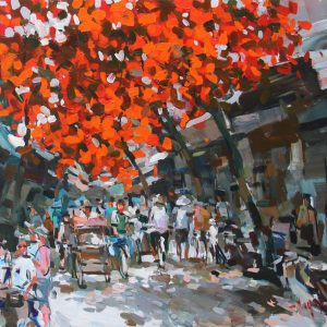 Hanoi in the summer day 1, Vietnam Artworks