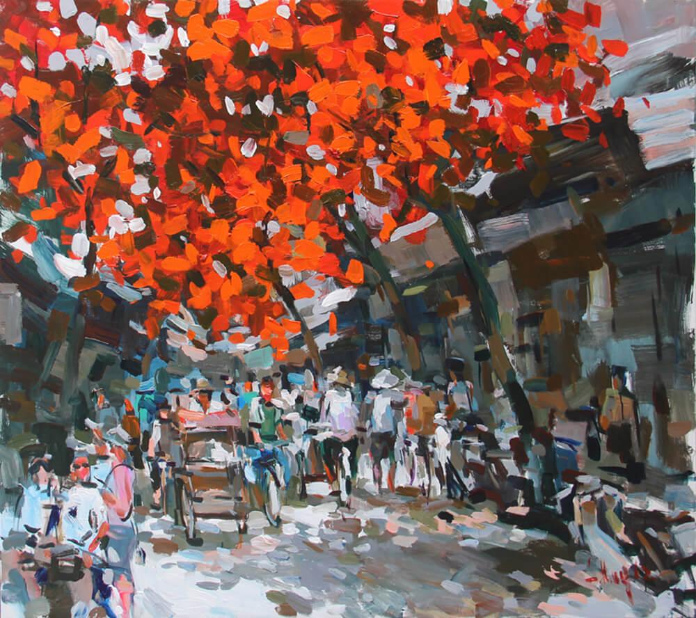 Hanoi in the summer day 1, Vietnam Artworks